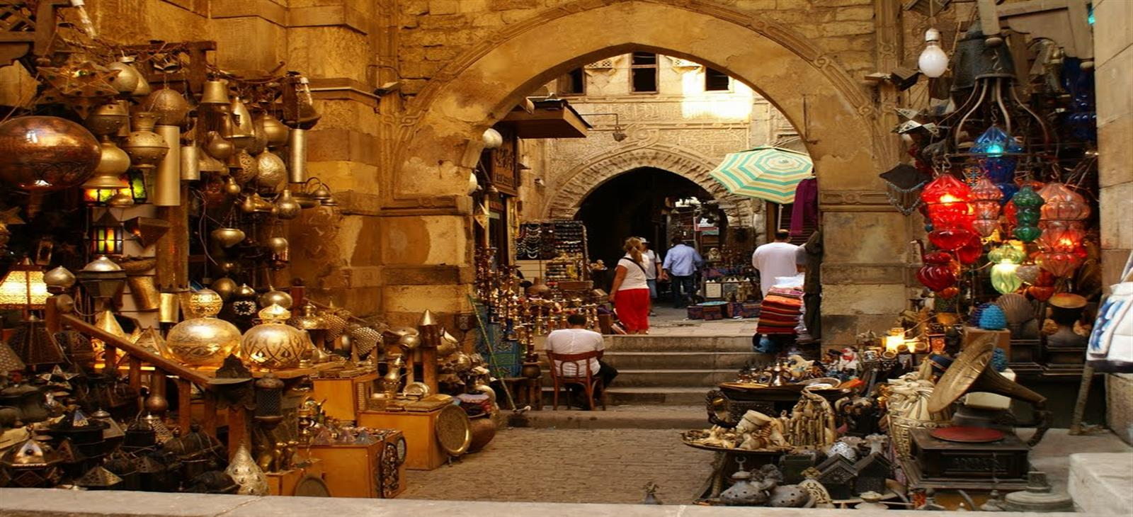 Khan El Khalili Bazaar at Cairo
